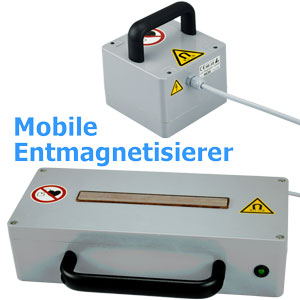 Mobile Entmagnetisiergeräte HE-10 HE-20