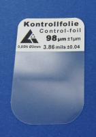 Kalibrierfolie 100 µm